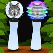 Wolf LED and Light-Up Coin Spinner Wand