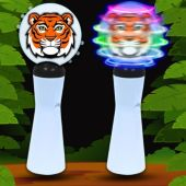Tiger LED and Light-Up Coin Spinner Wand