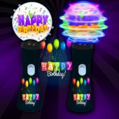 Happy Birthday LED Coin Spinner Wand