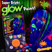 Orange Super Bright Glow Paint