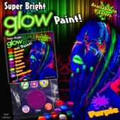 Purple Super Bright Glow Paint