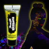 Yellow UV Face and Body Paint