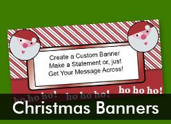 Christmas Custom Banners