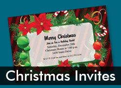 Personalized Christmas Invitations