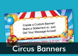 Circus and Carnival Custom Banners