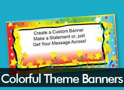 Colorful Theme Custom Banners