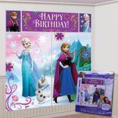Frozen Birthday Scene Setter Wall Decorating Kit