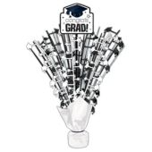 White Congrats Grad Spray Centerpiece - 18""