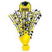"""Yellow Congrats Grad Spray Centerpiece - 18"""""""