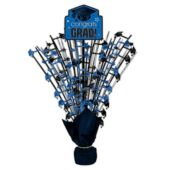 """Blue Congrats Grad Spray Centerpiece - 18"""""""