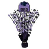 Purple Congrats Grad Spray Centerpiece - 18""