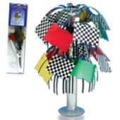 Colorful Checkered Flag Centerpiece – 8 ½ Inch