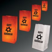 Hanukkah Luminary Bags-50 Pack