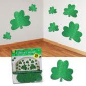 Shamrock Glitter Cutouts - 20 Pack