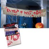 Enter if You Dare Cloth Banner