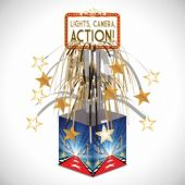 """Lights, Camera, Action Hollywood Centerpiece-14 1/2"""""""