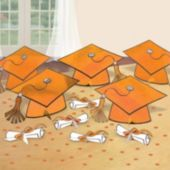 Orange Graduation Party Table Decorating Kit