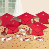 Red Graduation Party Table Decorating Kit