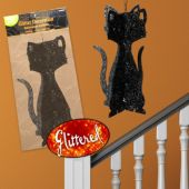 Black Glitter 3D Cat Decoration