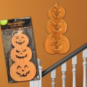 Pumpkin Stack Glitter Decoration
