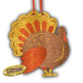 Glitter Turkey Hanging Decoration
