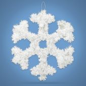 "White Tinsel 12 1/2"" Snowflake"
