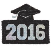 2016 Graduation Black Tinsel Decoration