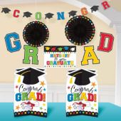 Colorful Congrats Grad Room Decorating Kit