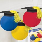 Graduation Cap Hanging Lanterns - 3 Per Unit