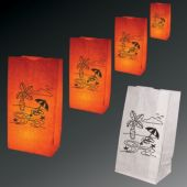 Tropical Theme Luminary Bags - 50 Pack