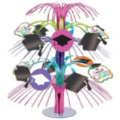 Colorful Congrats Grad Cascade Centerpiece – 14 Inch