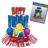 Happy Birthday Fringe Centerpiece-13""