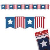 Patriotic Ribbon Banner