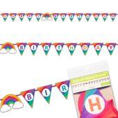 Rainbow Happy Birthday Banner