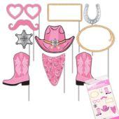 Pink Bandana Photo Booth Prop Kit