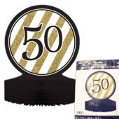 50th Black & Gold Centerpiece - 12""