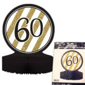 "60th Black & Gold Centerpiece - 12"""