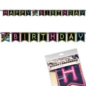 Glow Party Birthday Banner
