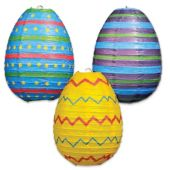 Easter Egg Paper Lanterns-3 Per Unit