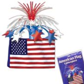 American Flag Centerpiece-13""