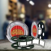 Movie Reel Centerpiece - 9""