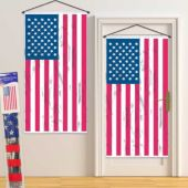 American Flag Metallic Decoration