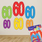 60 Cutout Decorations - 6 Per Unit