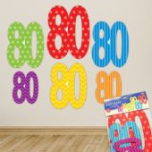 80 Cutout Decorations - 6 Per Unit