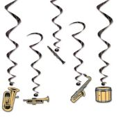Musical Instrument Whirls - 5 Pack