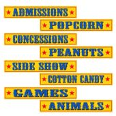 Circus Sign Cutouts-4 Per Unit