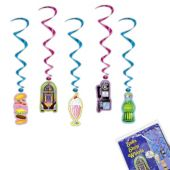 Soda Shop Whirl Decorations - 5 Pack