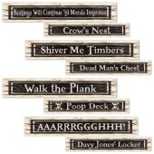 Pirate Street Sign Cutouts - 4 Per Unit