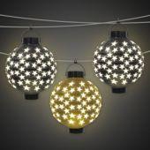 Star Light Up Lanterns-3 Per Unit