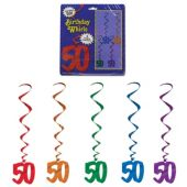 50 Whirl Decorations-5 Per Unit